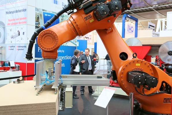 Robotics took centre stage at LIGNA.