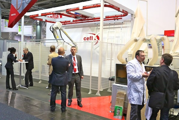 Cefla display at LIGNA.