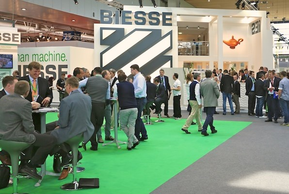 Biesse display at LIGNA.