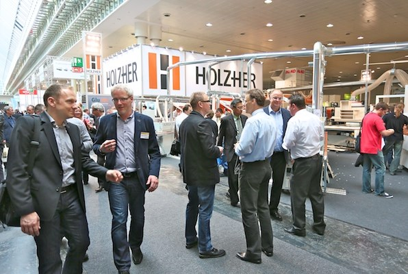 HOLZ-HER display at LIGNA.